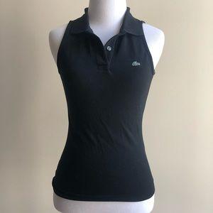 Lacoste black sleeveless polo - size 34